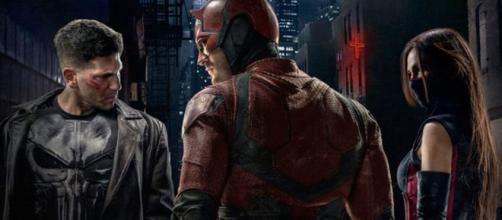 Justiceiro, Demolidor e Elektra (Divulgação/Netflix)