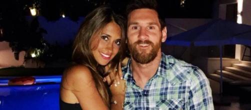 Leo Messi com a esposa Antonella