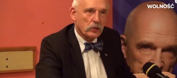 Janusz Korwin-Mikke, prezes Partii Wolność.