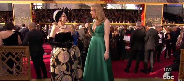 Rita Moreno comments on her dress decision. - [Image via: ABC television network/ YouTube screenshot]
