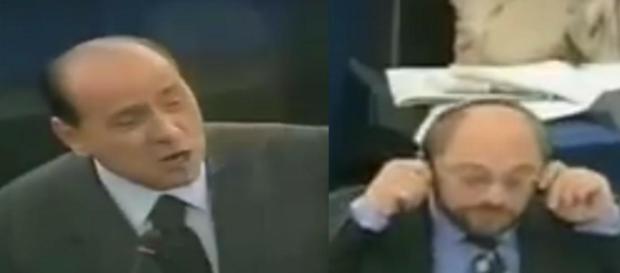 Silvio Berlusconi ostro do Martina Schulza w PE (źródło: youtube.com).