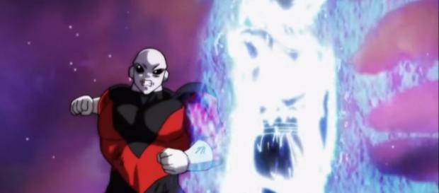 Ultra Instinct Son Goku vs full-powered Jiren. - [Image via Ichigo Kurosaki / YouTube screencap]