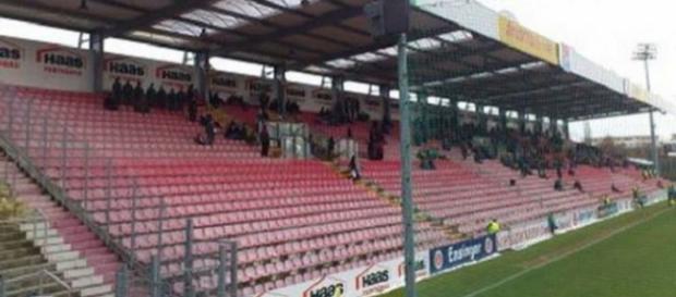Zum vermutlich vorerst letzten Mal reiste der FC Rot-Weiß Erfurt nach Unterhaching in den Generali Sportpark. Archivbild: Groundlager.de