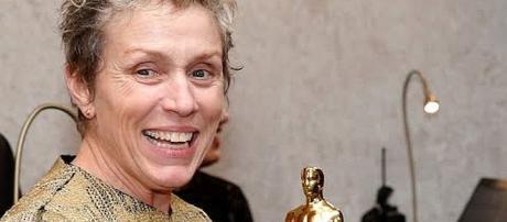 Frances McDormand's Oscar was stolen and returned [Image: Entertainment Tonight/YouTube screenshot]