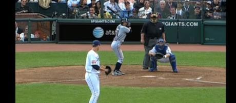 Ichiro Suzuki hits a home run in All-Star Game. - [MLB / YouTube screencap]