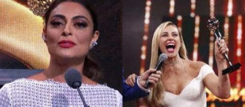 Juliana Paes comemora Troféu Imprensa e solicita ida ao SBT