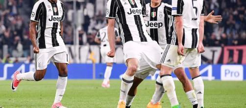 Juventus FC - Chiellini esulta dopo il goal