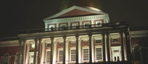 The Massachusetts State House at night. - [Image via Cdschock - Flickr]
