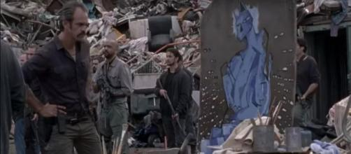'The Walking Dead' dark blue paint theory is discussed. [Image source: The Walking Dead Updates HD/YouTube screencap]