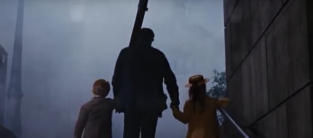 Bert escorts the children back home to their families. [Tony parra/Youtube screencap]