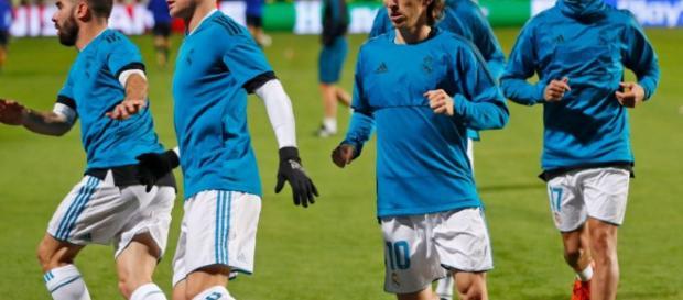 Luka Modric y Toni Kroos volvieron al entrenamiento del Real Madrid el domingo