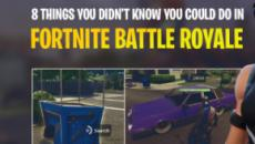8 Things You Didn't Know You Could Do In 'Fortnite Battle Royale'
