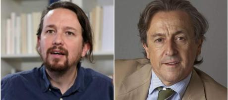 Pablo Iglesias y Hermann Tertsh