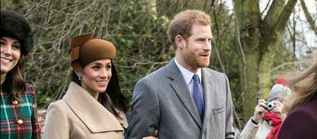 Prince Harry and Meghan Markle on Christmas Day 2017 (Image credit – Mark Jones, Wikimedia Commons)