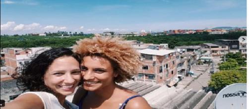 Derradeira foto postada de Marielle Franco com a mulher, Monica