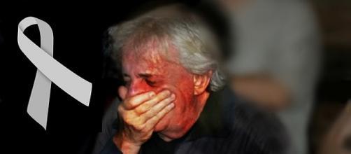Marco Nanini não conseguiu conter sua dor e tristeza.