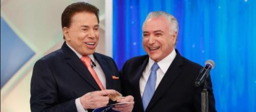 Michel Temer vai ao encontro com Silvio Santos, no SBT