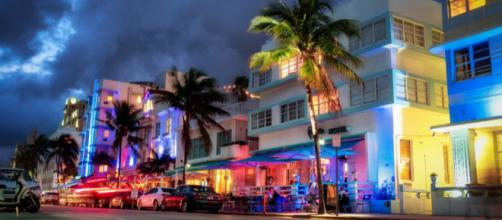 Ocean Drive in South Beach Miami, Florida at nighttime. On Flickr by Markus around the World