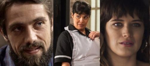 Renato, Janete e Clara em ''O Outro Lado do Paraíso''