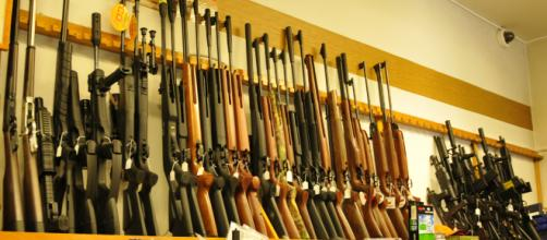 Walmart and Dick's Sporting Goods prohibit rifle sales to anyone under 21. [image source: Panoramio/ Wikimedia Commons]