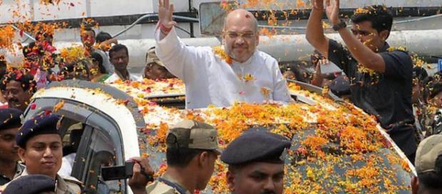 2018 assembly elections: Amit Shah in Tripura... (Image via NDTV/Screencap)