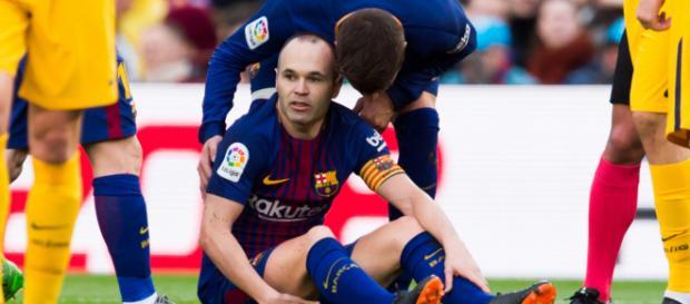 Andres Iniesta está lesionado de momento