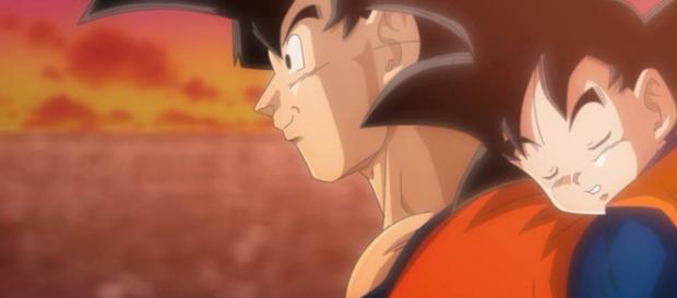 Imagen de Goku y su hijo Goten.