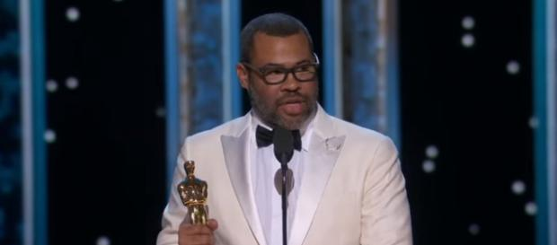 Jordan Peele delivering his acceptance speech in the 2018 Oscars. [Image via ABC Television Network/YouTube screencap]