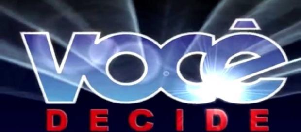 """Logo """"Você Decide"""". (Foto: Reprodução /Globo)"""