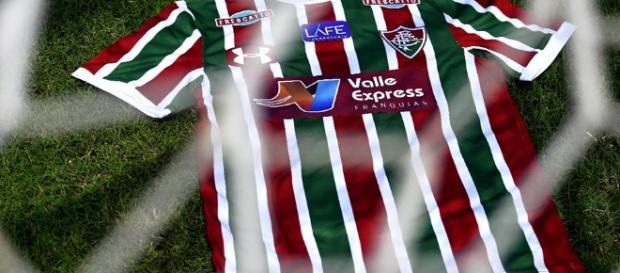 Valle Express, empresa de cartões de crédito e patrocinadora master do Fluminense (Foto: Blog da Flusócio)