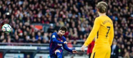 Leo Messi e Griezmann se enfrentaram na semana passada