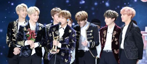 BTS at the 31st Golden Disk Awards. [Image Credit: Wikimedia Commons]