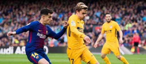 Griezmann atuou contra o Barcelona no domingo passado. (foto reprodução).