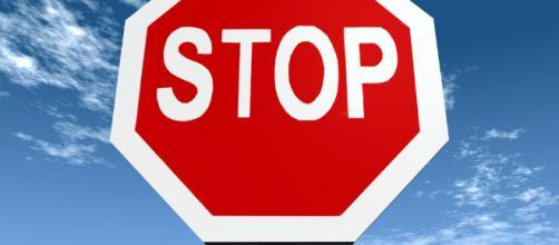 Il cartello stradale dello stop