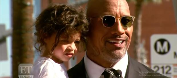 Dwayne Johnson is grateful for all the support he got during the weekend-YouTube/ET Canada Channel