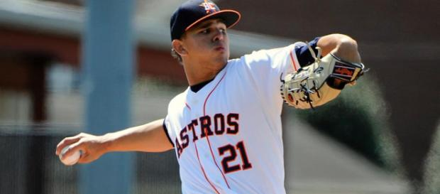 Franklin Perez is now one of Tigers top prospects. [Image MLB.com/YouTube]