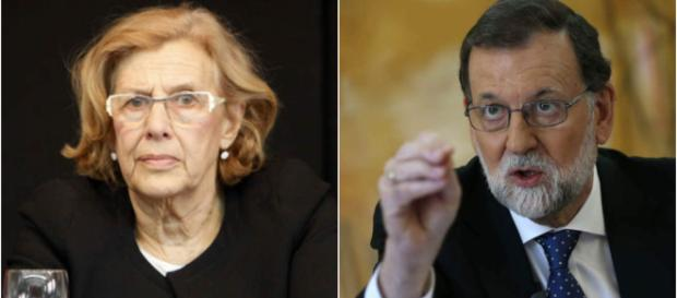 Manuela Carmena y Rajoy en imagen de archivo