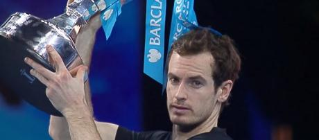 Andy Murray celebreting his ATP Finals success back in 2016/ (Image vi Tennis TV channel on YouTube)