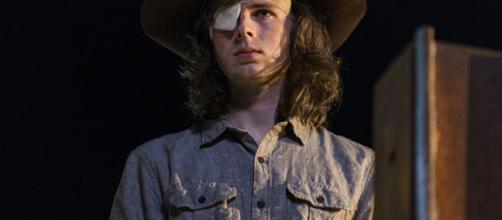 Personagem Carl Grimes interpretado por Chandler Riggs