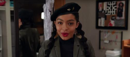 'Zoey' prepares to save Hawkins Hall on tonight's episode of 'Grown-ish.' - [TV Promos / YouTube Screencap]