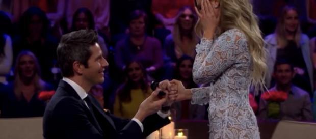 Arie Luyendyk Jr. proposing to Lauren / Entertainment Tonight YouTube Channel