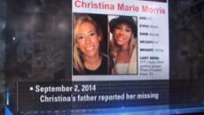 Remains found by excavators were identified as Christina Morris