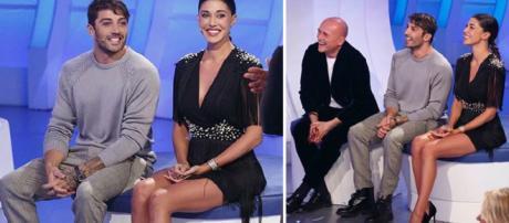 Belen Rodriguez ed Andrea Iannone ospiti di Maria De Filippi, chiamati da Ezio Greggio ed Enzo Iacchetti.