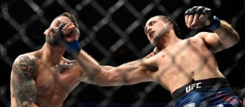 El uppercut de Ortega definió la pelea. mmawwekly.com.
