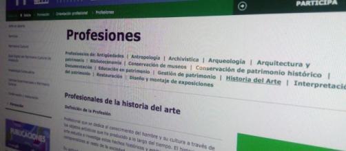 Profesiones de la Historia del arte. Fuente: Aproha - aproha.es