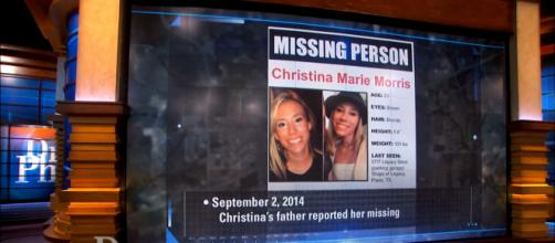 Remains of Christina recently found by construction workers -- YouTube/The Dr. Phil Show