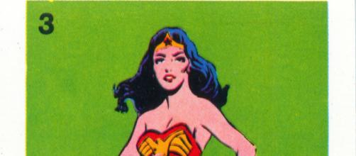 This is a card from Wonder Woman Whitman Cards, a game released in the 1970s portraying the famous hero. [Image via Mark Anderson/Flickr.com]