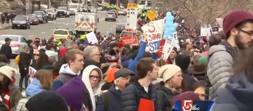 March For Our Lives in action. - [WCVB Channel 5 Boston / YouTube Screencap]