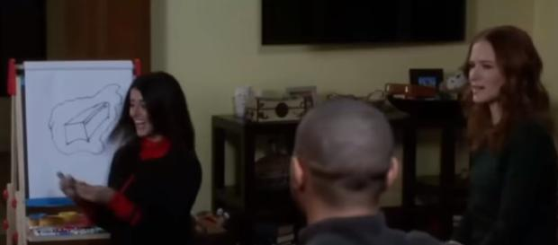 'Grey's Anatomy' scene. - [Celeb Interview / YouTube screencap]