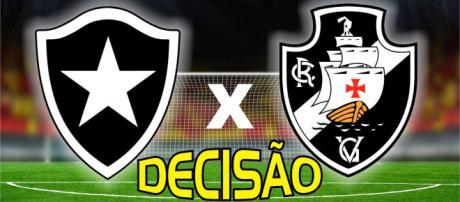 Botafogo x Vasco ao vivo neste domingo. (foto reprodução).